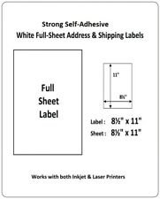 Full Sheet Shipping Labels 8.5 X 11 Self Adhesive USPS UPS FedEx Amazon FBA