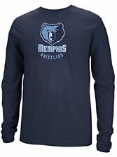 Memphis Grizzlies Navy Primary Logo Long Sleeve Tee Shirt by Adidas