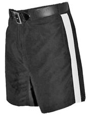 """Football Referee Shorts Black With 1 1/4"""" White Stripe Officials Uniform"""