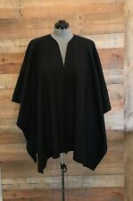 "Handmade Fleece Shawl Wrap Ruana Black 50"" x 60"" Onesize Topstitched 4 Colors"