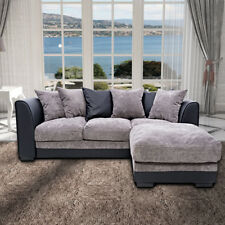 Modern Corner Sofa Bed Settee Suites 2/3 Seater Recliner Footstool With Cushions