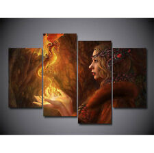 4 Panels HD Canvas Abstract Print home decor wall art painting,Anime Dragon