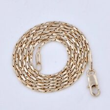 Womens Mens Yellow Sold Gold Filled Real Long Vintage Chain Necklace 17-21 inch