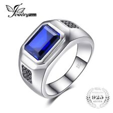 4.3ct Sapphire Natural Black Ring 925 Sterling Silver