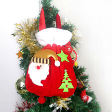 Red Christmas Gift Bags Flannelette Candy Pouch Xmas Favors Ornaments