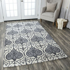 Transitional Traditional Plush Hand Tufted Wool Gray Area Rug **FREE SHIPPING**