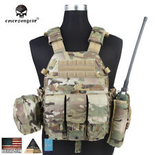 EMERSON LBT6094A Style Plate Carrier Vest with 3 Pouches Tactical Gear CP 7440