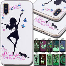 For Apple iPhone LG Fluorescence Case Luminous Cover TPU Soft Back Rubber Skin