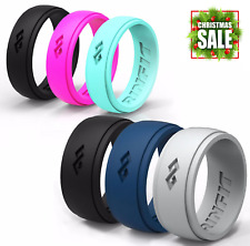 Silicone Wedding Rings | Wedding Bands for Men and Women- 6 Ring pack - RINFIT