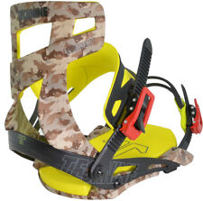 BRAND NEW TECHNINE CAMO ELEMENT SNOWBOARD BINDINGS CAMO/YELLOW MEDIUM LARGE