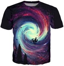 New Womens/Men Psychedelic Bicycle 3D Print casual short sleeve T-Shirt RTK60