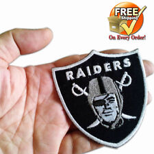 Team Oakland Raiders Football Logo DIY Badge Embroidered Iron Sew On Patch Lot