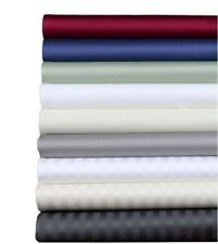 1000 TC Egyptian Cotton All Bedding Item US Full Size Solid/Stripe Colors