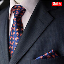 Fashion Floral and Paisley Mens Tie Silk Ties Handkerchief Suit Set High Quality
