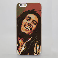 Bob Marley Smoking Smiling Design Hard Case for iPhone 6 7 8 Samsung Huawei Sony
