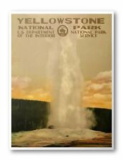 Yellowstone National Park Poster (Old Faithful)