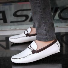 Men's Casual Party Shoes Oxfords Genuine Leather Driving Moccasins Shoes BEA