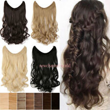 Women Long Thick Clip in Hair Extensions Wire Headband Hairpiece no Clips Brown