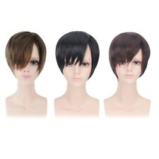 Simplicity Men's Handsome Short & Layered Straight Toupee Wigs with Free Wig Cap