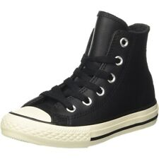 Converse Chuck Taylor All Star Thermal Hi Black Leather Junior Trainers Shoes