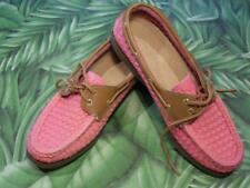 SPERRY TOPSIDER A/O NEW Boat Shoe Pink Woven 2 Eye Lace Up Women 6.5