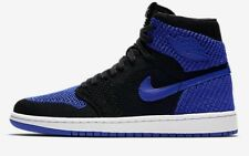 Nike AIR JORDAN-1 RETRO HIGH FLYKNIT MEN'S SHOE Black/Royal- US 11, 11.5 Or 12