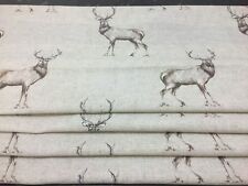 WIDE  PORTER AND STONE GLENCOE STAG FABRIC WIDE  ROMAN BLIND MADE TO MEASURE