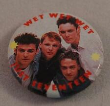 Vintage Wet Wet Wet Just Seventeen Boy Band Pin Pinback Button Badge
