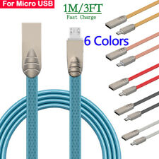 Zinc Alloy Micro USB Data Sync Fast Charger Charging Cable Cord For Android Lot
