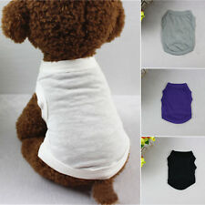 XS-XL Cotton Pet Clothes Dog T Shirt Beagle Puppy Bulldog Shirt Tank Top Vest