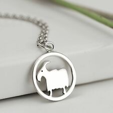 Handmade 925 Sterling Silver Year of the Goat Necklace - Zodiac Jewellery