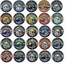 """12"""" Choose Your NFL Football Team Logo Round Chrome Wall Hanging Clock NEW"""