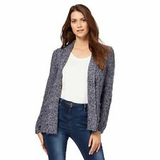 Maine New England Womens Dark Blue Textured Cardigan From Debenhams