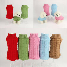 Pet Dog Puppy Cat Warm Sweater Clothes Knit Coat Winter Apparel Costumes New