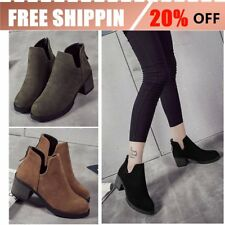 2017 Winter Women Boots Casual Suede Leather High Heel Pointed Toe Boots KK