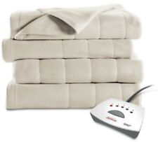 Heated Fleece Blanket Electric Dual Control Auto-Off Machine Washable Winter Bed