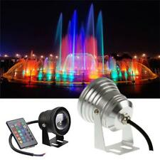 10W IP68 Waterproof RGB LED 12V Underwater Spot Light Pool Aquarium Lights