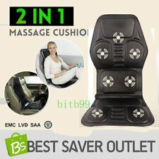 2 IN 1 7 Motor Massaging Back Massage Seat Pad Massager Chair Cushion Car MX