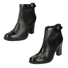 Ladies G-Star Raw Classic High Heel Ankle Boots Black Leather - Steeper