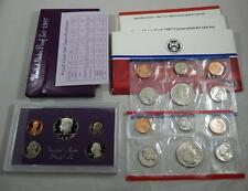 1987 US United States Mint Proof & Uncirculated Coin Set Lot 15 Coin Total CB204