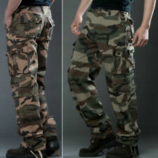 Men's Cotton Military Army Cargo Combat Work Pants Camouflage Pockets Trousers