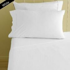 1000 TC NEW EGYPTIAN COTTON FITTED/FLAT/DUVET/BED-SKIRT US-SIZES WHITE SOLID