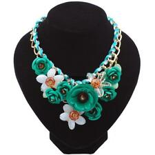 New Fashion Women Chain Acrylic Crystal Flowers Wedding Party Casual IXH4