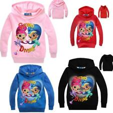 Shimmer and Shine Kids Girls Hoodies Cartoon SweatShirts Tops Jumpers Clothes