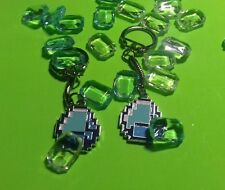 Fab MINECRAFT Themed Enamel Charm KEYRING, Diamond Pickaxe, Diamond, Creeper