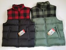 New The North Face Men's Classic Nuptse Plaid 700 Down Vest Jacket Great Gift