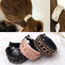 Women Comb Style Ponytail Hair Holder Wrap Tie Cuff Clips Accessories band HOT