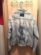 Ksubi x Travis Scott Ghosted Distressed Denim Jacket NEW ! sz Large SUPREME