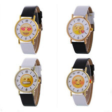 Lovers Fashion 1 Pcs Woman Watch Quartz Smiling Face Wrist Watch Leather