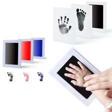 Inkless Baby Newborn Footprint Handprint Ink Pad Frame Non-Toxic Keepsake Touch